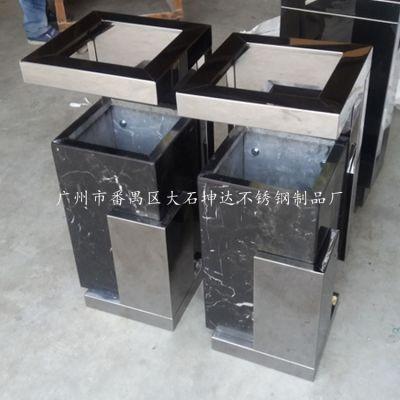 坤达正品GPX-622方形座地烟灰桶 KTV过道走廊大理石垃圾桶 创意立式杂物回收箱 可定制