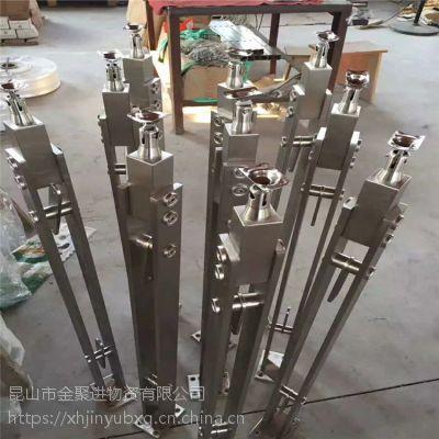 泰州耀荣 科技馆不锈钢玻璃栏杆 防护型不锈钢立柱 加工定制厂家价格