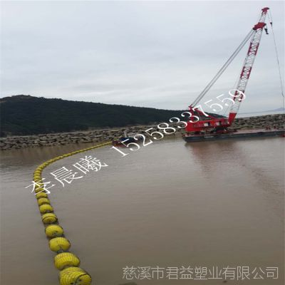 河道拦截浮筒 直径80*110cm两半体浮筒 圆柱形警示浮筒