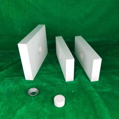 除尘管道耐磨陶瓷片(100*50*10)硬度高 耐磨损 耐高温 鞍山厂家供应