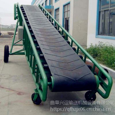复合肥用输送机 装车用12米长传送带