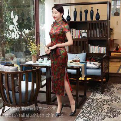 塞拉服饰特推蕴含华夏气息的17新款旗袍一手货源女装免费加盟