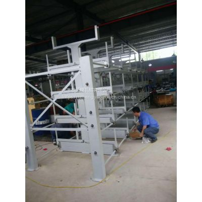 浙江伸缩式管材货架 放棒料的架子 棒材存放架 新型悬臂式货架价格