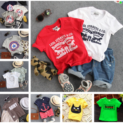 便宜儿童T恤,男女童短袖,童装T恤