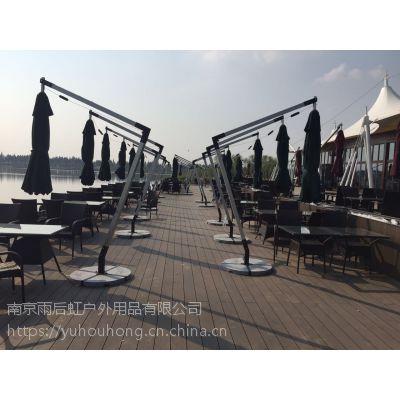 定制欧式铝合金庭院伞保安物业岗亭伞遮阳伞可配桌椅可印LOGO可定制颜色伞面有透明过胶涤纶布伞面