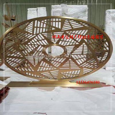 佛山 304不锈钢花盆 玫瑰金拉丝花箱 园林绿化长方形金属花槽定制