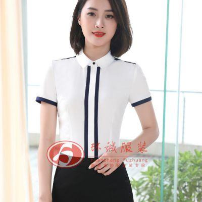 白衬衫女 秋季新款女士衬衫OL正装职业衬衣女 大码工作服