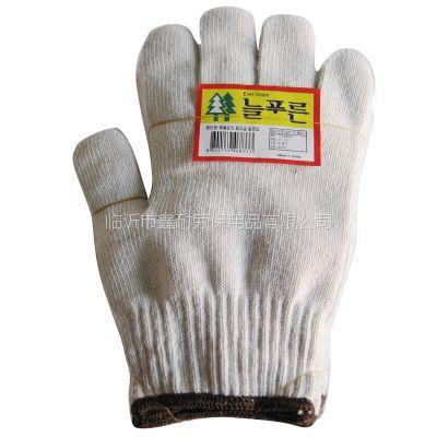 针织棉纱手套白色非一次性 灯罩棉出口线手套山东生产加工临沂鑫耐特劳保棉纱手套