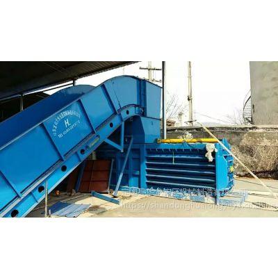 供应HL/华龙HLW-180吨大型卧式带门废纸打包机,可用作纸壳、书本纸、铁皮、饮料瓶等打包