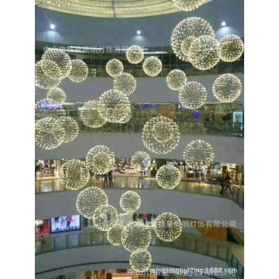 商场中庭吊挂卖场中厅设计购物广场天顶美陈商场中厅装饰中空吊饰