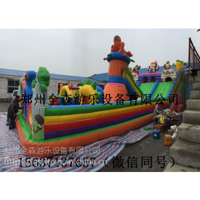 厂家直销大型充气城堡大滑梯,跳跳床量大从优,大小可定制其他玩具