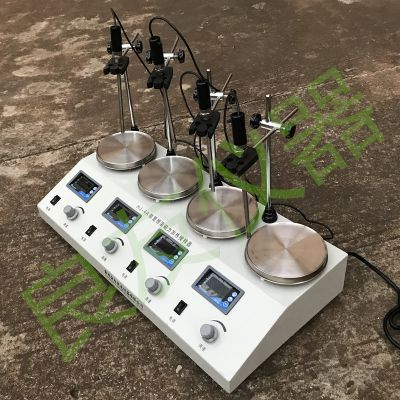 供应金坛姚记棋牌正版 HJ-4A数显恒温多头磁力搅拌器 多工位磁力搅拌器