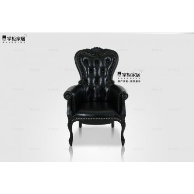 mooi smoke chair黑色焚跡椅 新古典沙发 样板房 设计师椅 大师椅