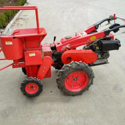 小四轮小类型玉米收获机 玉米秸秆收获机 安全性好质量好摘玉米机