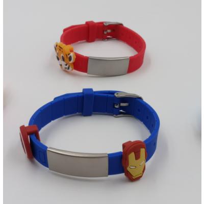 供应不锈钢、合金金属、钛钢手镯创意滴胶头硅胶表带、定制运动表带可替换硅胶表带
