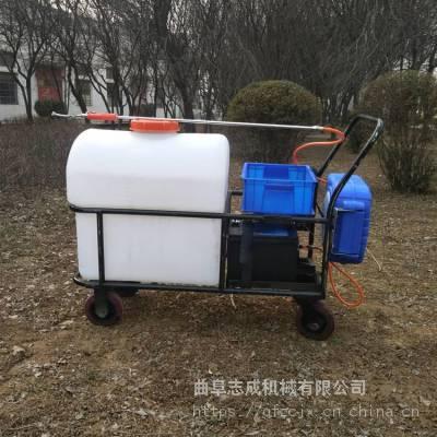 105升电动喷药机价格 农用自动卷管喷药机 大棚蔬菜去虫电动手推打药机