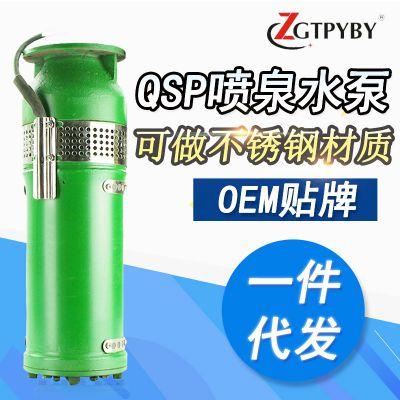 喷泉用水泵鱼水池景观省电大流量泵QSP25-25-3kw铸铁喷泉水电泵