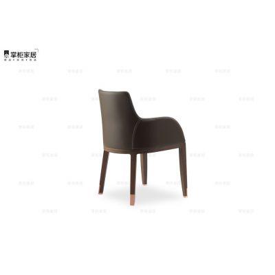 设计师椅子 意大利现代风格 DEKA armchair 餐椅 会所样板房家具