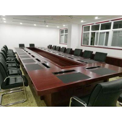 会议桌简约现代办公家具长条桌会议室桌椅培训桌洽谈桌椅组合