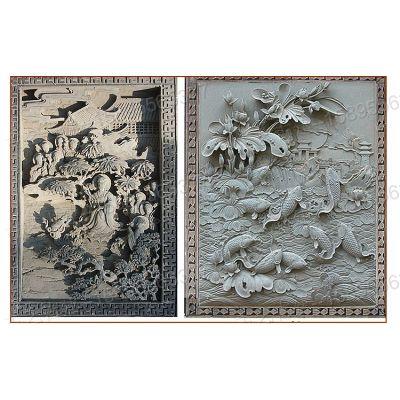唐山文化水泥砖雕厂家青砖砌块景区徽州砖雕