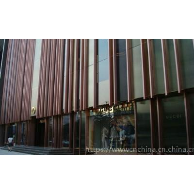 酒店外墻裝飾鋁方管,墻身木紋鋁格柵裝飾效果-廣東澳门AG真人app建材有限公司