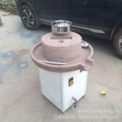 芝麻酱机 宏瑞小型电动 销高产量芝麻酱石磨机