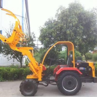 养殖场用小型抓草机 电启动农用机械抓木机 ZL06型装载机价钱