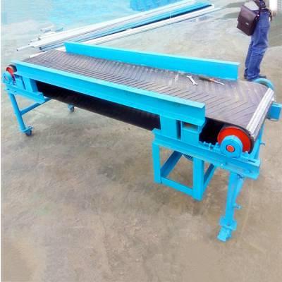 [都用]农业肥料输送机 稻谷装车皮带机 大倾角砂石输送机