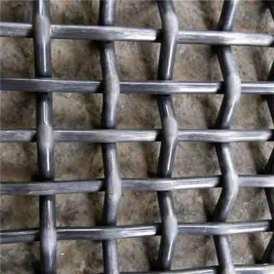 镀锌小轧花网 黑钢轧花网片 筛沙网图片