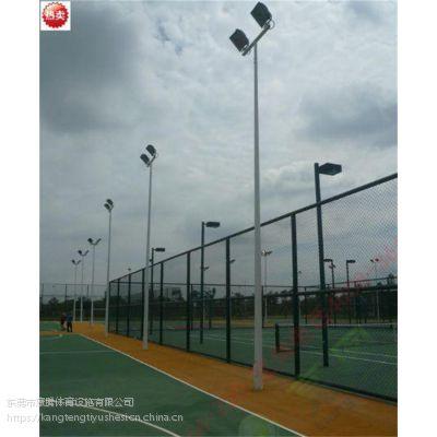足球场灯杆灯具一拖二,篮球场灯柱生产厂家 惠州可送货安装康腾体育