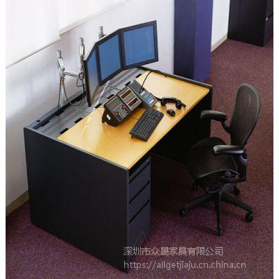 供应深圳众晟家具DAS-001金属框架金融交易控制监控台