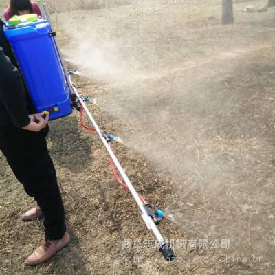 背负式支架打药机使用视频 小麦玉米喷雾器 农用支架式喷雾器