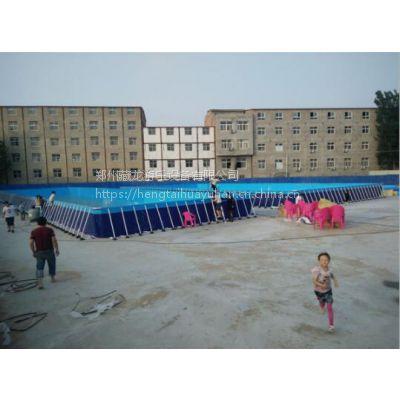 框架钢管水池都是多大面积的 一米高成人玩水支架水池定做 水乐园钢管水池价位