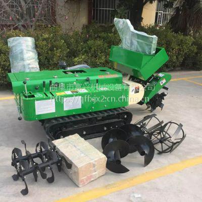 果树耕地机 时风柴油大马力低矮开沟回填机 富兴小坦克式除草机价格
