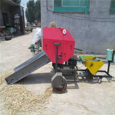 青草揉丝包膜机 北京养殖场饲料包膜机 自动打捆包膜机一体机价格