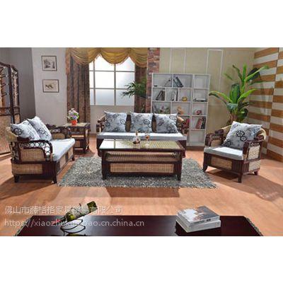藤格格 8002 厂家批发真藤家居 客厅家具藤沙发茶几组合新古典藤木藤席沙发