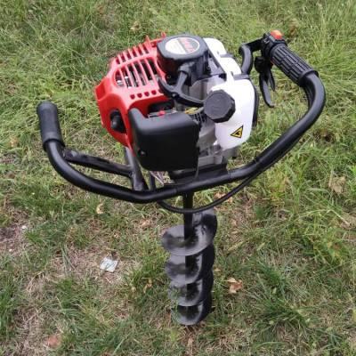 旭阳精品低噪音打洞机硬土地钻孔机便携式二冲程挖坑机
