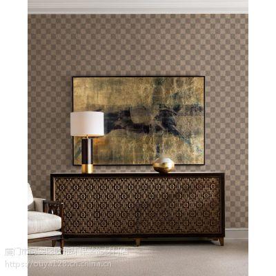 欧雅新中式纱线壁布墙布