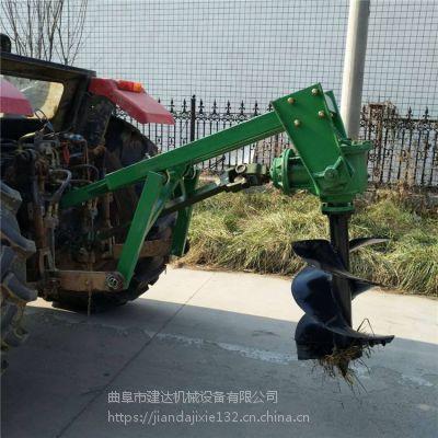 液压升降电线杆埋桩打坑机 拖拉机后挂挖坑机