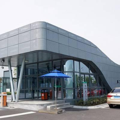 檐口雨棚装饰铝单板 门头檐口氟碳造型铝板
