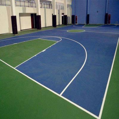 绿色环保硅PU篮球场施工材料 硅Pu球场施工 煌盛
