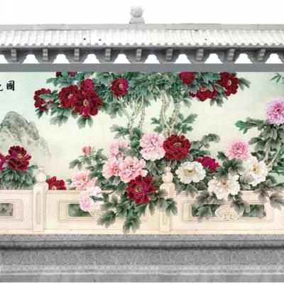 影壁墙壁画 景德镇陶瓷瓷砖壁画厂家