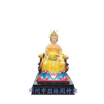 1.3米贴金十二老母佛像厂家直销 手工雕刻彩绘三霄神像
