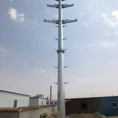 南京市10kv钢杆价格 绥化市10kv112米钢管杆报价 10kv钢管塔型号 霸州市顺通电力设备厂