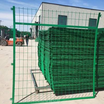 高速公路隔离栅 绿色钢丝隔离栅防护网河北隔离栅厂家