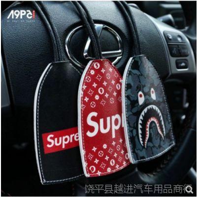 潮牌汽车钥匙钥匙包大容量拉链包男女士时尚腰挂锁匙包情侣潮