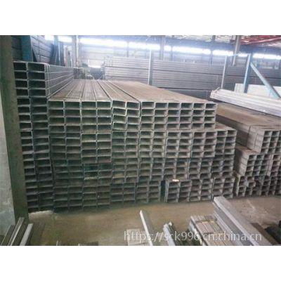 成都市Q235镀锌矩形管-国标100*50*5煤场建设用防腐镀锌管现货供应