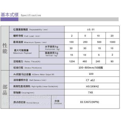 直线滑台模组/滚珠丝杆线性模组/深圳线性模组厂家/线性电机模组