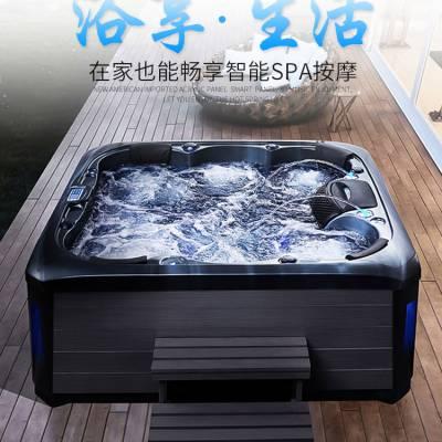 苏州MEXDA新款2.2米按摩浴缸泡池浴缸 家用按摩池按摩SPA大池冲浪缸亚克力