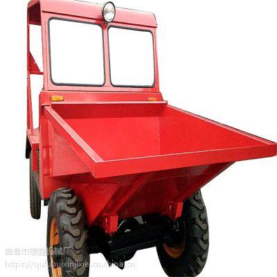 液压电启动高配翻斗车 运输粪便的柴油四轮车 拉河沙用的前卸式翻斗车